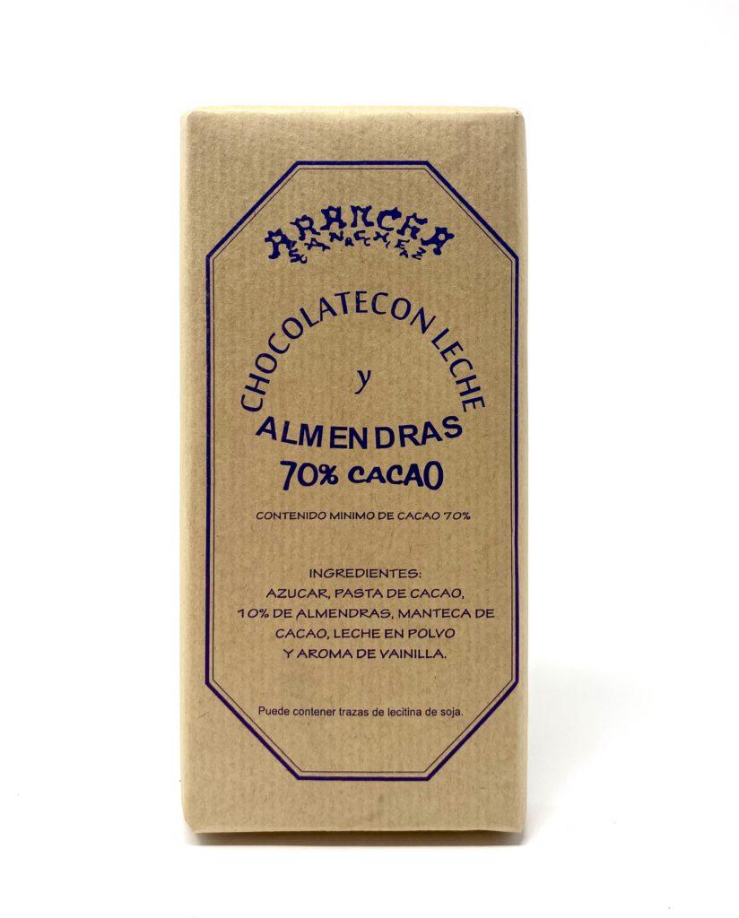 ARANCHA CHOCOLATE CON LECHE Y ALMENDRAS 70% CACAO