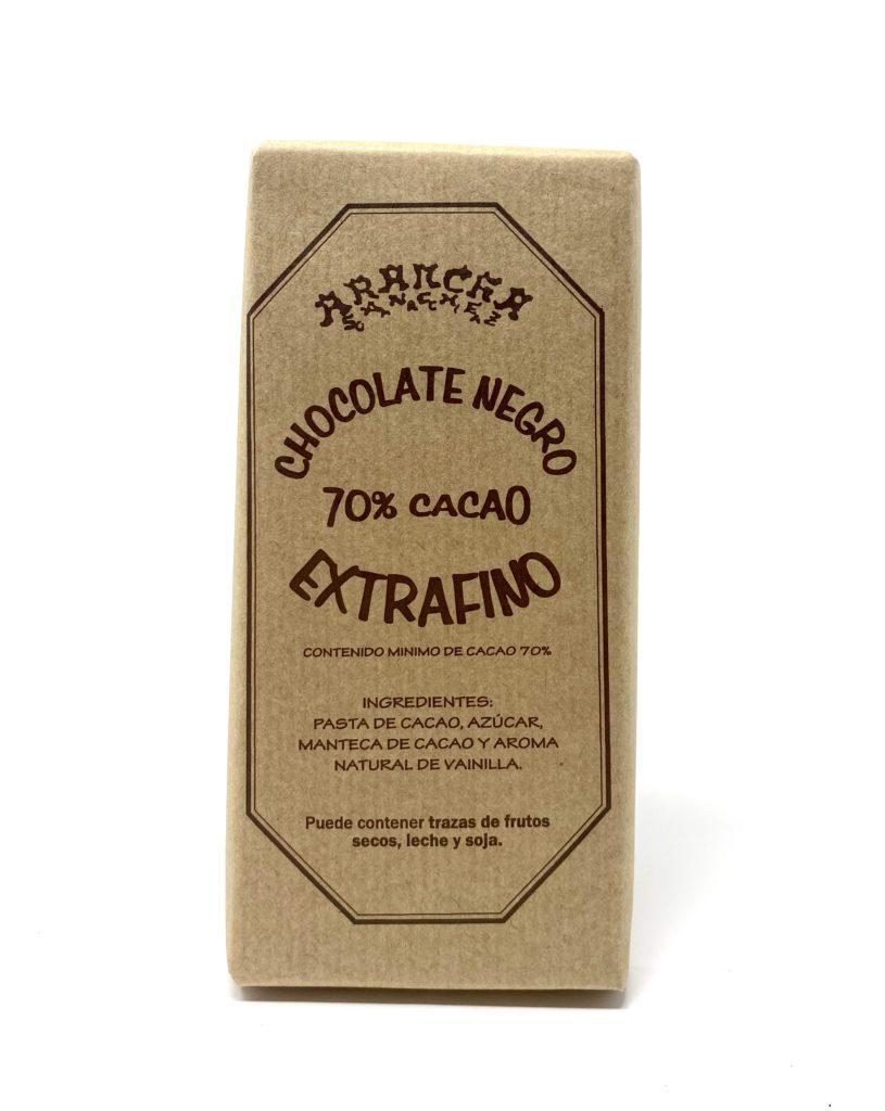 ARANCHA CHOCOLATE NEGRO 70% CACAO EXTRAFINO